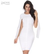 Bandage O-Neck Bodycon White