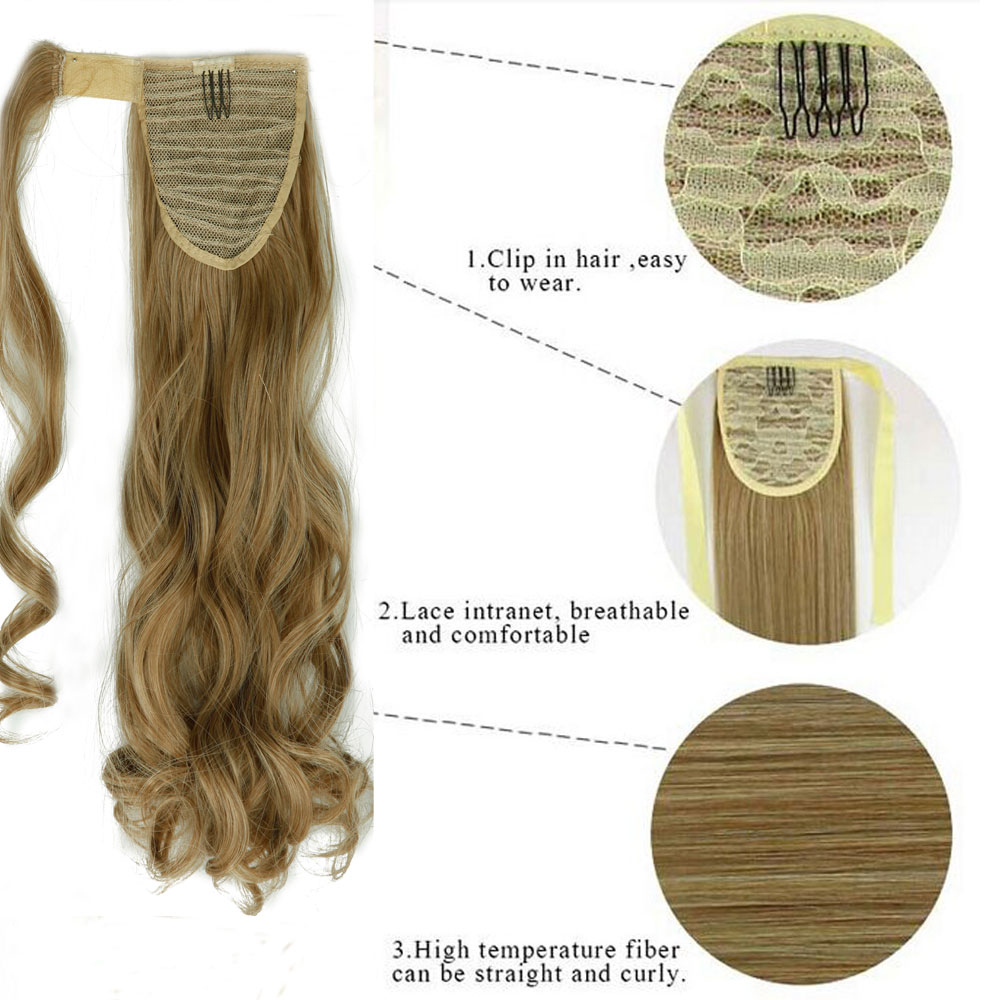 Aliexpress Buy S Noilite 43cm Long Wavy Real Natural Ponytail