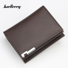 Baellerry Wallet Men Leather Short Luxury Famous Brand Men Wallets Zipper Male Clutch Coin Purses Money Bag Card Holder Fashion недорго, оригинальная цена