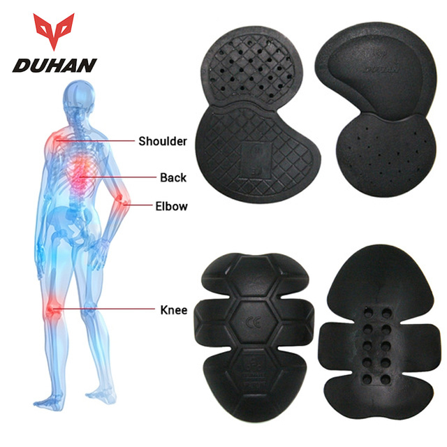 DUHAN Motorcycle Protective Kneepad Racing CE Protector Guard Armor Motocross Elbow Shoulder Back Motorcycle Protective Gear scoyco k12 motorcycle knee elbow outdoor sports bike bicycles rodilleras motorcross kneepad moto racing protective guard gear