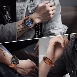 Image 5 - MAIKES רצועת השעון וינטג שמן שעווה עור רצועת שעון צמיד 20mm 22mm 24mm שעון אביזרי שעון להקת עבור panerai אזרח
