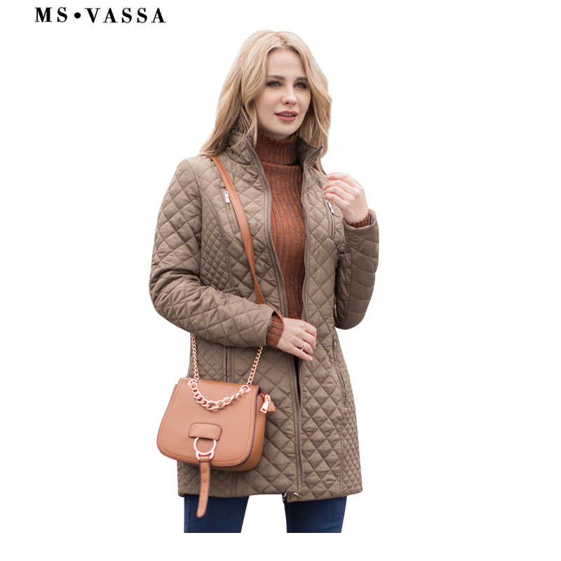 MS Vassa женские парки осень зима новые куртки женские повседневные стеганые пальто плюс размер 5XL 6XL длинная стеганая женская верхняя одежда оверсайз