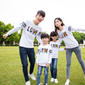 Love Letter Sweatshirt Family Clothing Clothes for Mom and Daughter Father Son Matching Clothes Family Set White/Red/Navy PRO02