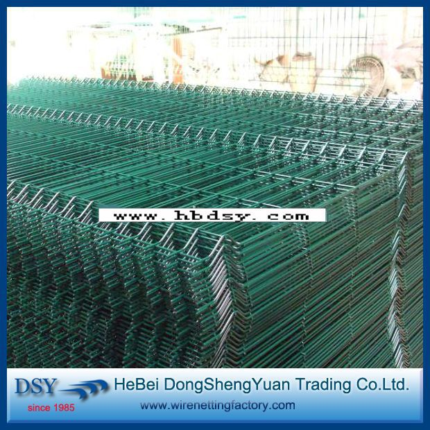 GREEN GARDEN FENCE USED 3V BENDS WELDED WIRE MESH FENCE PANEL (28 ...