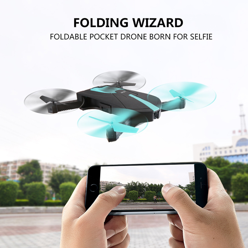 JY018 Mini Selfie Drone Portable Pocket Folding Quadcopter Altitude Hold Headless WIFI FPV Camera RC hobby Helicopter toy tracker selfie pocket drone altitude hold foldable mini rc quadcopter wifi camera helicopter headless