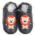 Recém-nascidos Sapatos de Bebê Mocassins de Couro Animal Macio Sole Sapatos de Bebê Menino Da Criança Shoes Kids First Walker Infantil Calçado Chinelos