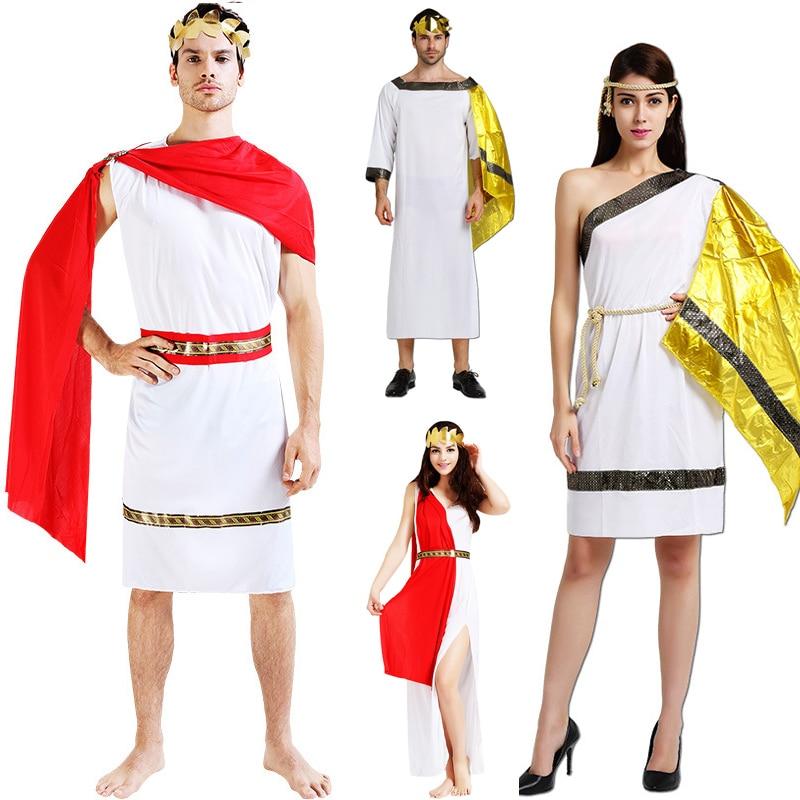 Women Men Ancient Greece Roman Costume Adults Lovers Greek Egypt Egyptian Cosplay Greek Costumes Halloween Fancy Dress Clothing