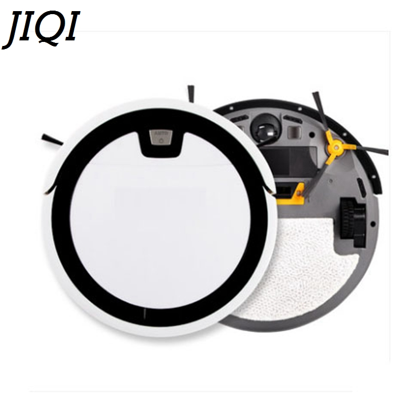 JIQI Intelligent Robot Vacuum Cleaner Self-Charge HEPA Filter Wet and dry mopping sweeper Household smart dust catcher Aspirator multifunctional robot vacuum cleaner wet and dry small front wheel 3 pcs