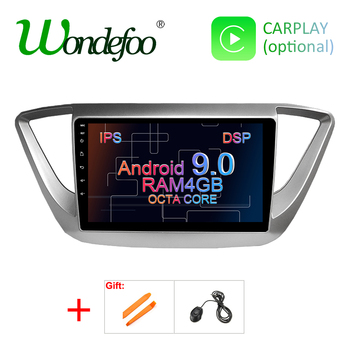 IPS DSP 4G RAM Android 9 0 Car GPS for Hyundai Verna Solaris 2017