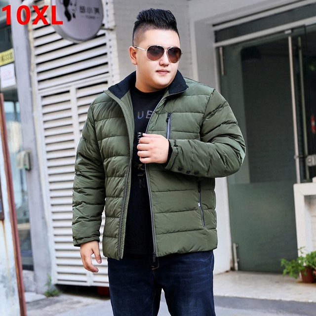 f0a969ca58838 Large size men s jacket winter new big size man fat increase loose men s  long sleeves down jacket male