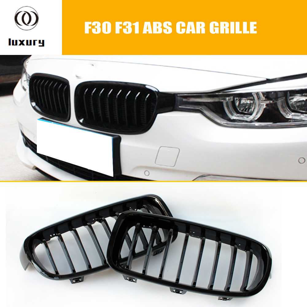 F30 F31 Abs Black Front Grill Grille For Bmw F30 31 3 Series Sedan