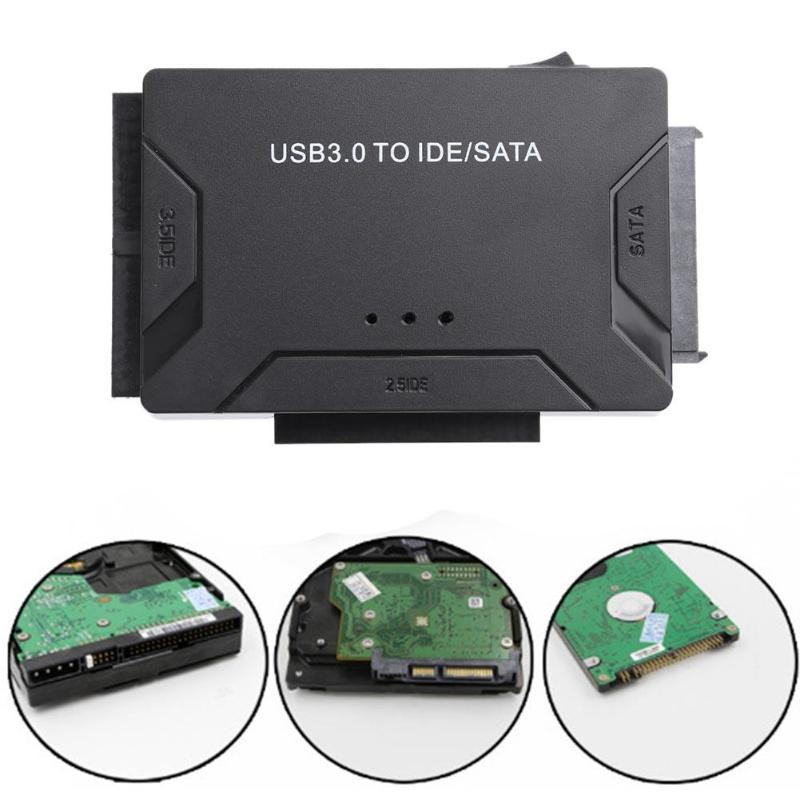 3 in 1 USB 3.0 to SATA IDE ATA Data Adapter for PC Laptop 2.5 3.5in HDD Hard Disk Driver Optical Drive HDD SSD with Power