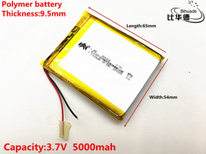 Image 2 - 2pcs/lot 3.7V,5000mAH,[955465] PLIB; polymer lithium ion battery / Li ion battery for tablet pc,power bank,E BOOK;