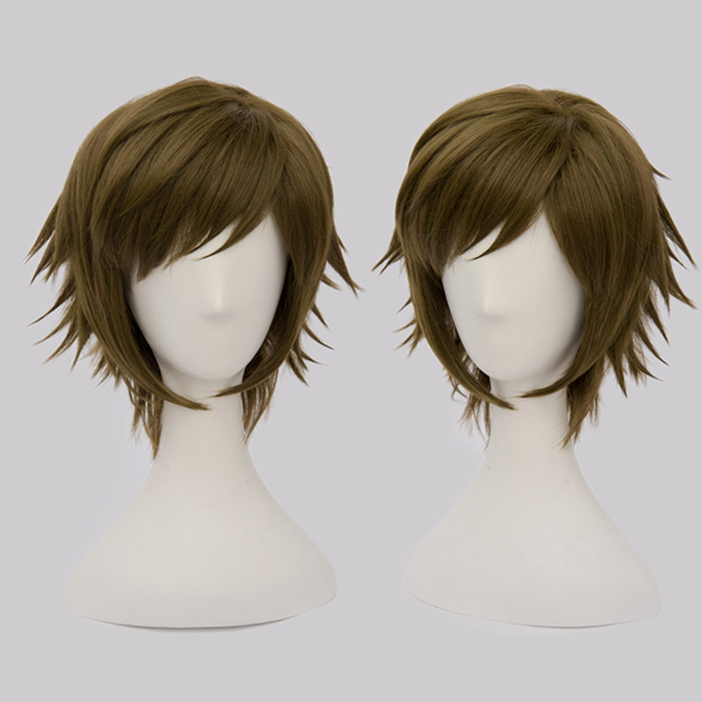 X-COSTUME NIKAIDO YAMATO Wig idolish7 Cosplay Costume Anime Brown Short Hair Accessories Halloween Cosplay Costume Prop For Mens
