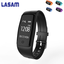 Lasam Новый S1 Smart пульсометр SmartBand фитнес-трекер Шагомер WhatsApp Facebook браслет для IOS Android