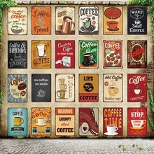 [ WellCraft ] Coffee Shop MenuSmell Metal Sign Posters art Vintage Mural Painting Custom Decor WW7