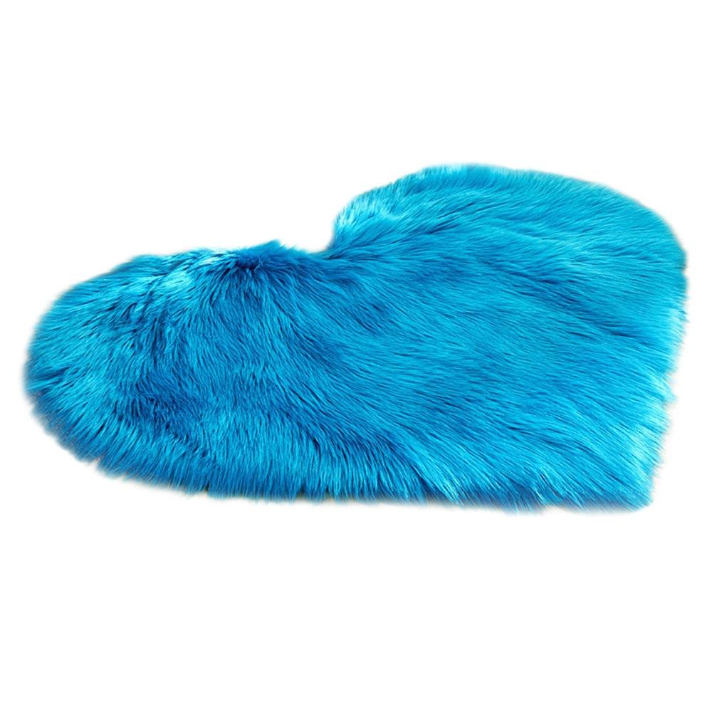 Shaggy Faux Fur Heart Shaped Decorative Carpets