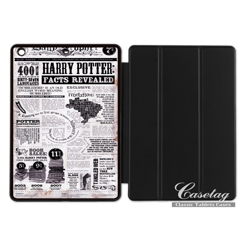 Harry Potter Facts Revealed Funny Folio Smart Cover Case For Apple iPad 2 3 4 Mini Air 1 Pro 9.7 10.5 12.9 New 2017 a1822