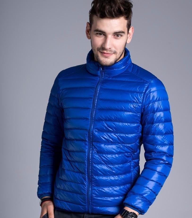 Men casual warm Jackets solid thin breathable Winter Jacket Mens outwear Coat Lightweight parka Plus size XXXL hombre jaqueta 13