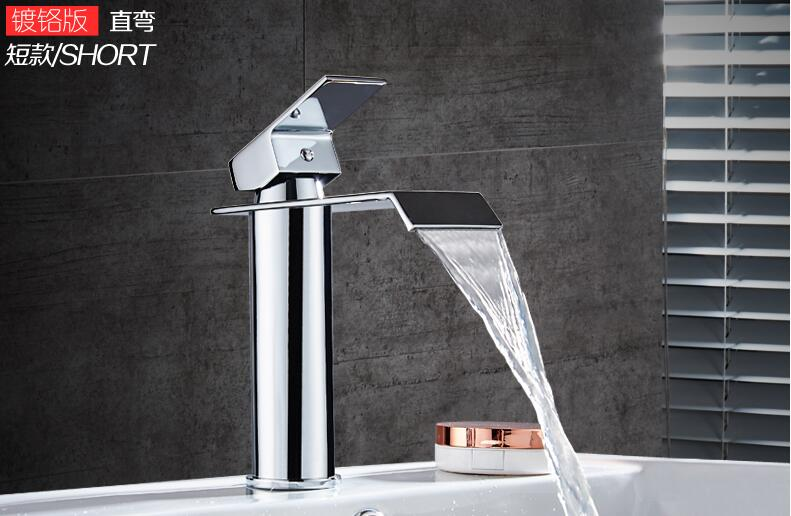 HTB1.kGabNSYBuNjSsphq6zGvVXaW Basin Faucet Gold and white Waterfall Faucet Brass Bathroom Faucet Bathroom Basin Faucet Mixer Tap Hot and Cold Sink faucet