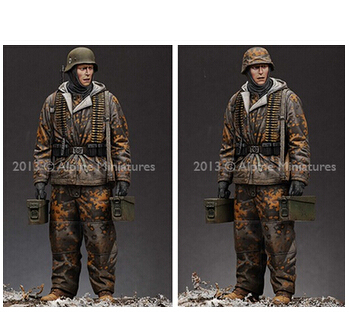 WW2 Models 1 16 Germany SS including two heads Historical Figure resin Free Shipping