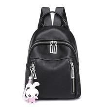 Backpack women 2019 fashion PU Leather bag women bag RivetsSatchel Travel School Rucksack Bag mochilas mujer цена 2017