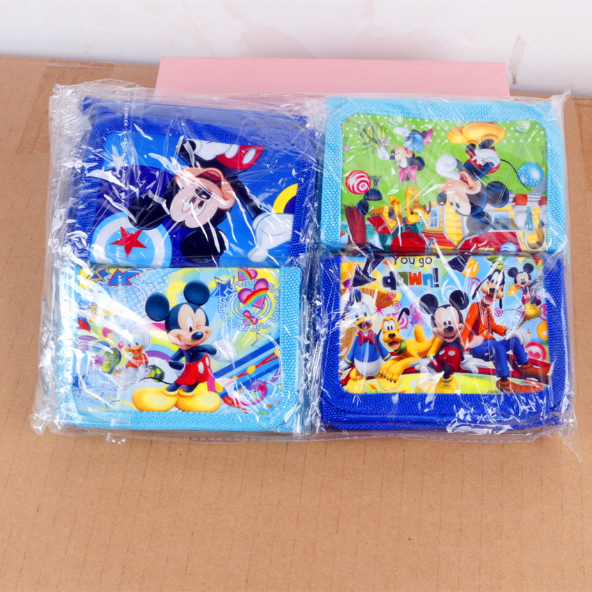 12pcs Cute Candy Mini Coin Purse Mickey Mouse Money Bag Wallet Birthday Party supplies Gift Party Favors For Kids Boy Girl