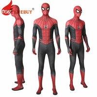 Costumebuy Spider Man Far From Home Costume Peter Benjamin Parker Cosplay Jumpsuit Zentai Superhero Spiderman Bodysuit Halloween