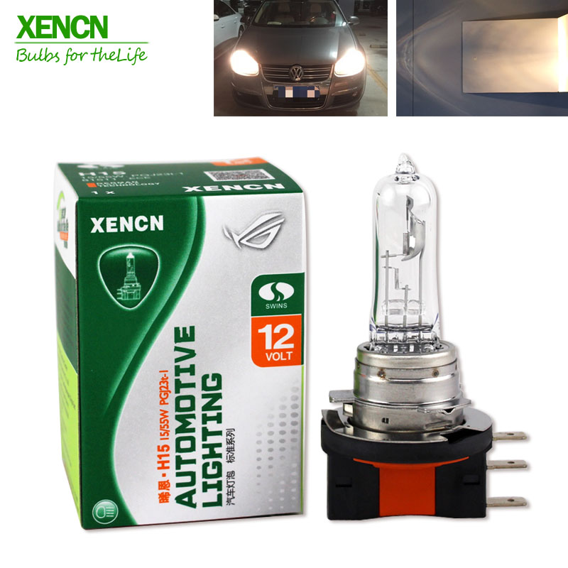 XENCN H15 12V 15/55W 3200K Clear Series Original Headlight OEM Halogen Bulb Auto Fog Lamps Long Lifetime For VW Golf 64176 xencn h7 px26d 12v 100w 3200k clear series off road standard car headlight halogen bulb uv quartz brand auto lamp for mazda cx 5