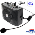 Multi-functional Portable Waistband Amplifier Speaker with MP3 / USB Slot / FM / U Disk and Headset Microphone Support TF Card