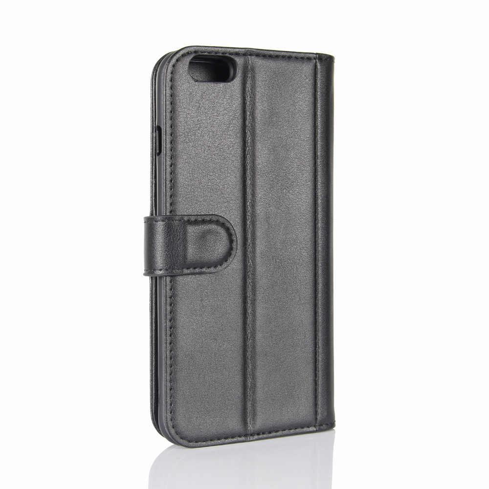 Retro Lederen Portemonnee Case voor iPhone 6 6S 7 8 Plus X XS Max XR Flip Cover Telefoon tassen Kickstand Gevallen Magnetische Sluiting