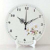 wholesale Pastoral style home decoration desktop clock more quiet quartz living room decorative table clocks weeding best gift