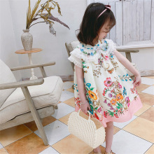 Summer Kids Dresses For Girls Flowers Birthday Party Princes