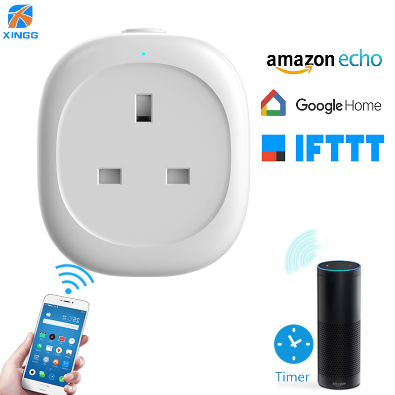 все цены на XINGG Power Meter Energy Monitor 13A UK Smart Wireless WIFI Plug Socket 3 Pin Timer Remote Adapter Outlet for Alexa Google Home