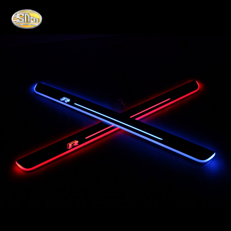 SNCN LED door sill for Volkswagen Vw Scirocco R 2009~2015 Led moving lights door scuff plate welcome pedal free ship rear door of high quality acrylic moving led welcome scuff plate pedal door sill for 2013 2014 2015 audi a4 b9 s4 rs4 page 7