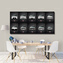 Canvas Painting HD Print Artwork 5 Pieces classic Retro Nissan Skyline GTR Car Pictures Bedside Home Decorative Wall Art Posters