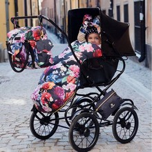 2016 Luxury french floral Sleeping Bag for winter / Baby Outdoor Stroller Bunting Universal Footmuff- Excellent Condition