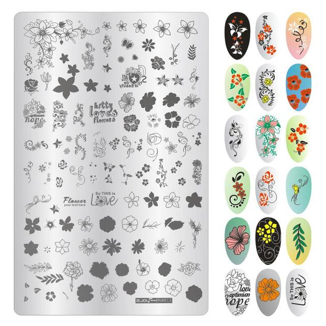WAKEFULNESS 1Pcs Necklace Pattern Nail Stamping Plates Big Size Painting Nail Art Stencil Templates Manicure Nail Stamp Tools