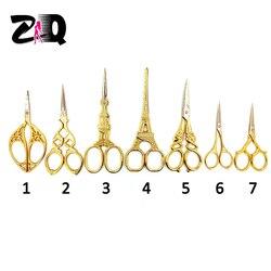 جديد الإبداعية عالية الجودة خمر ريترو الذهب قطع مقص الحرفية الخياطة مقص تطريز عدد وأدوات هدية 409