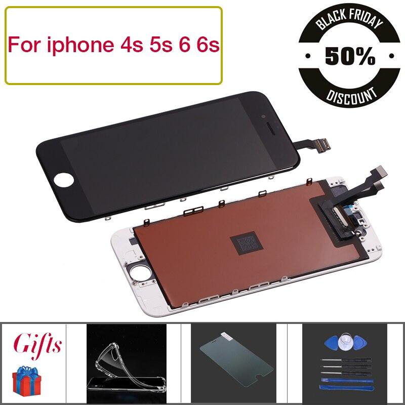 Pantalla LCD para iPhone 4S 6 P pantalla LCD de pantalla táctil digitalizador Asamblea reemplazo de pantalla para iPhone 6 iPhone 6 s 6 P 6 pantalla lcd + herramientas