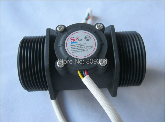 Free shipping dn40 1 5 turbine meter water flow sensors - Swimming pool water treatment plant ...