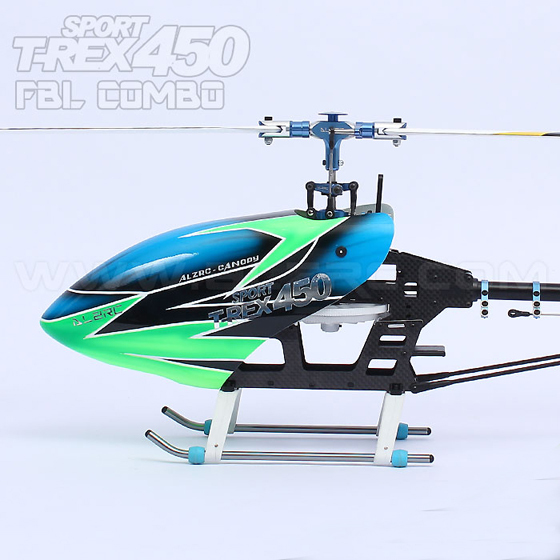 ALZRC 450 Sport Flybarless RC Helicopter Combo H450SFC Track Shipping