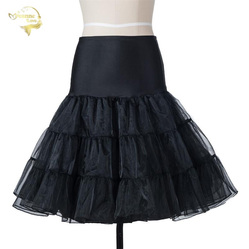 Free Short Organza Halloween Puffy Petticoat Cosplay Woman Crinoline 50s Vintage Wedding Petticoats Underskirt Rockabilly Tutu