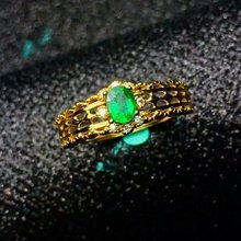 shilovem 925 sterling silver Natural Emerald Ring fine Jewelry Customizable women trendy wedding  open wholesale lj040501agml