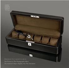 Fashion6 подушку высокое качество черно-ПУ и натуральной древесины коробка вахты часы коробка для хранения организатор роскошные часы подарочные коробки