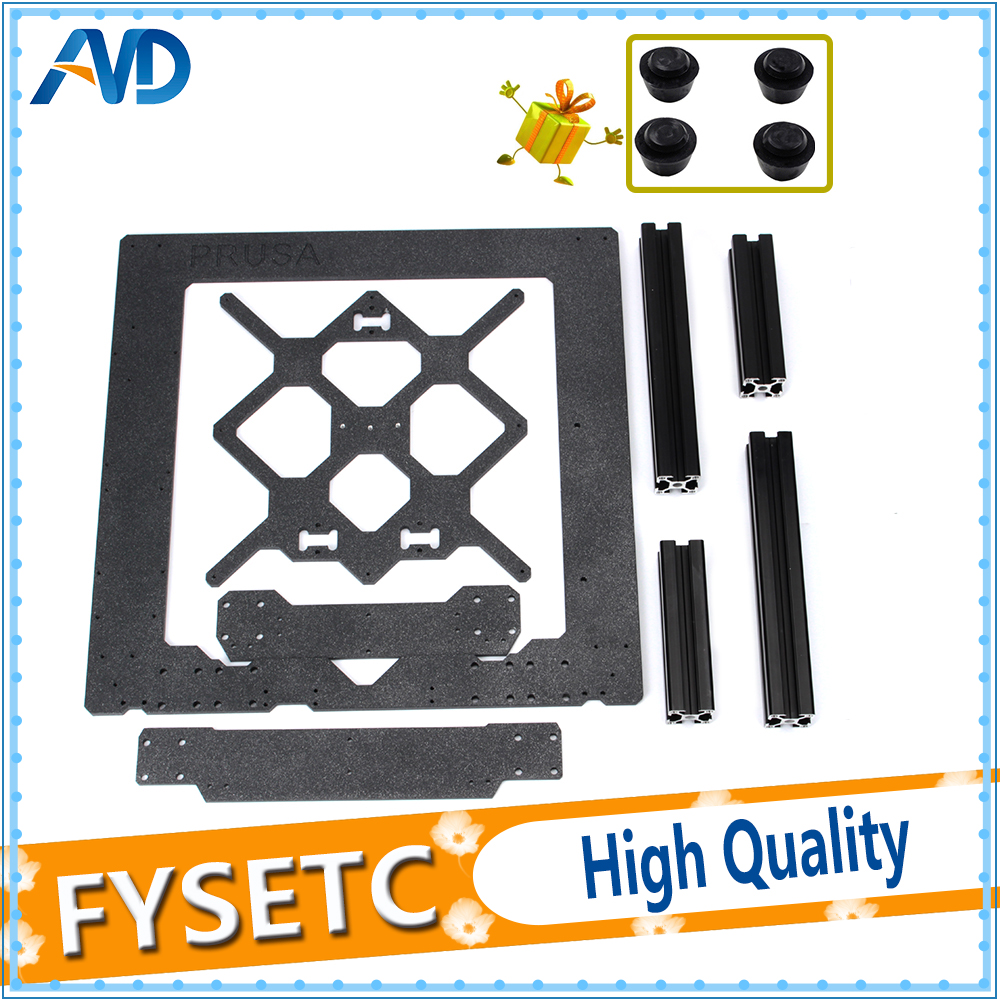 Clone Original Prusa i3 MK3 3D Printer Parts Aluminum Alloy Frame Y Carriage Front With Rear Plate + Aluminum Black Profile Kit iptv france box t95n arabic box with 1 year qhdtv subscription iptv france arabic algeria tunisia belgium netherlands iptv