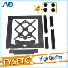 Klon Orijinal Prusa i3 MK3 3D Yazıcı Parçaları Alüminyum Alaşımlı Çerçeve Y Arabası Ön Arka Plaka + Alüminyum Siyah profil Kiti