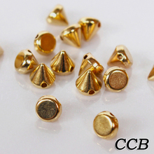 Hot Sale 200PCS 6mm/8mm/10mm/12mm Gold Silver Metal Stud Rivet Spikes Craft Case Shoes Bag Leather DIY Accessories