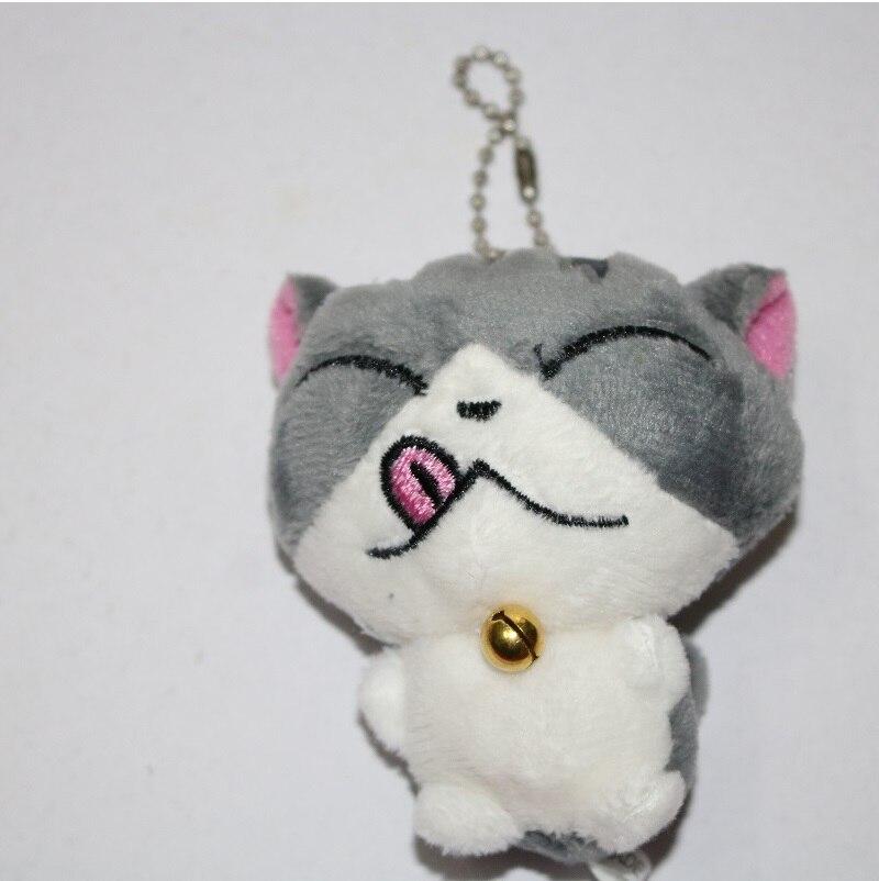 Kawaii серый сидя 9 см кошка плюшевые мягкие игрушки, букет подарок мягкая плюшевая кошка кукла, брелок с котом плюшевая игрушка цветок кошка кукла подарок - Цвет: G 5cm