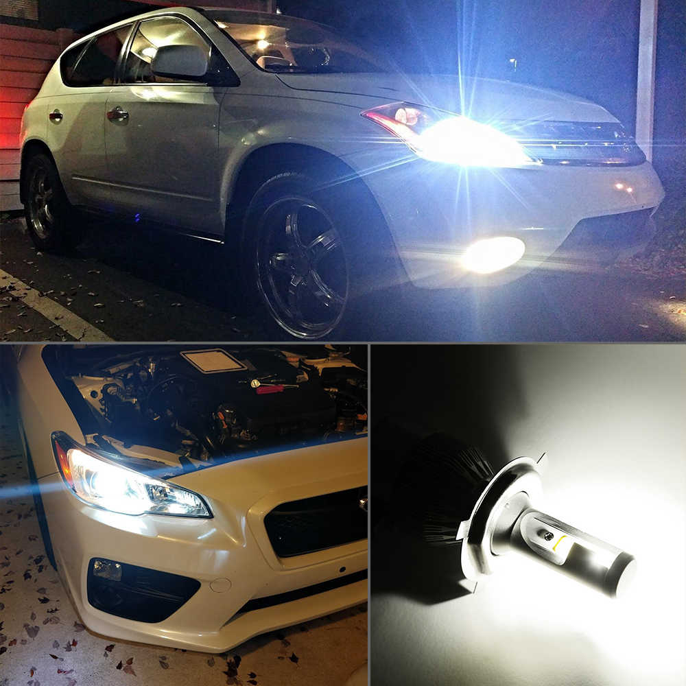 BraveWay H4 Led Headlight Turbo Led H4 H7 H11 H13 9006 HB4 Led Bulbs All for Car Fog Light H11 Ice Lamp for Auto Light Bulbs H4